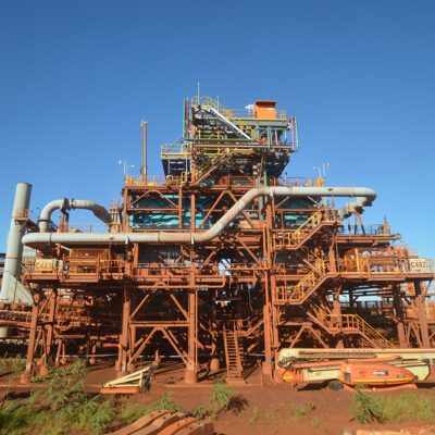 This is a photograph of the Cape Lambert infrastructure Monford Group was a part of the major works on. The construction done at Cape Lambert shows the state of the art machinery Monford Group has experience with.