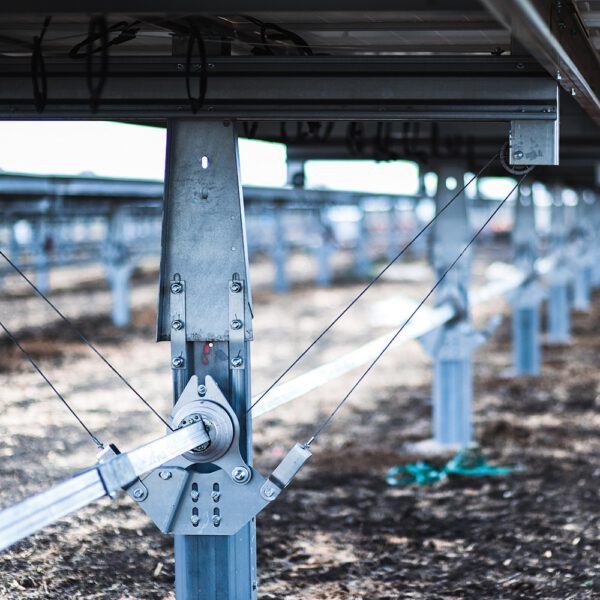This photograph is of the specific railing at the solar farm. The axis used specifically highlighted.