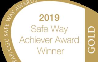 Safe Way Achiever Award Winner Gold 2019 IFAP CGU Safe Way award