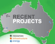 Monford Group recent project map around Australia